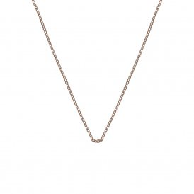 "Hot Diamonds Rose Gold Plated Silver Trace Chain 30"" ~ CH023"