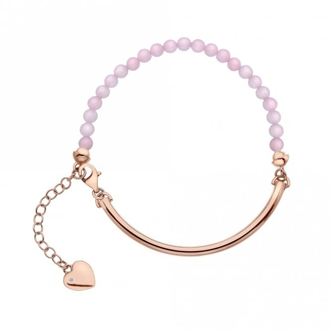 Hot Diamonds Rose Gold & Rose Quartz Bracelet ~ DL312