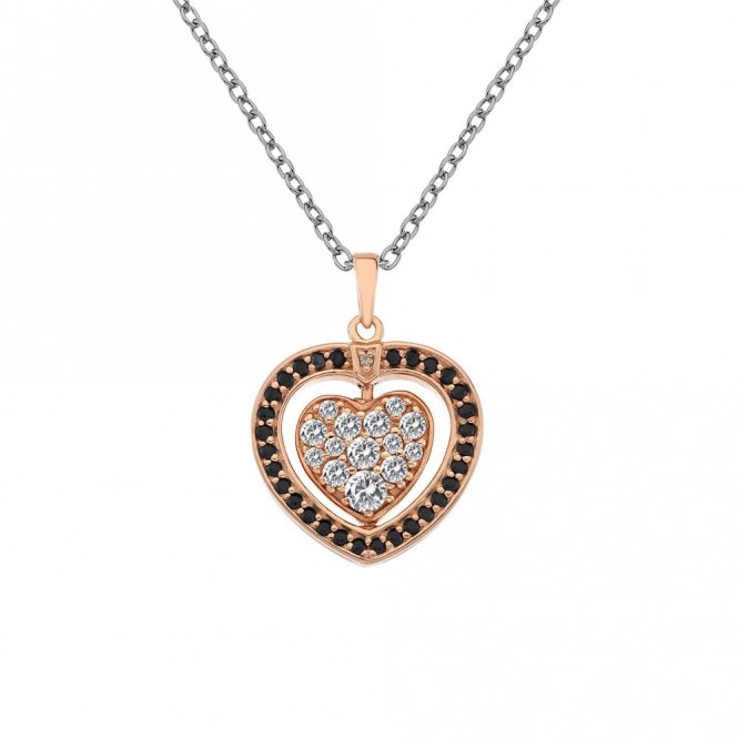 Hot Diamonds Rose Gold Turning Heart Pendant ~ DP607