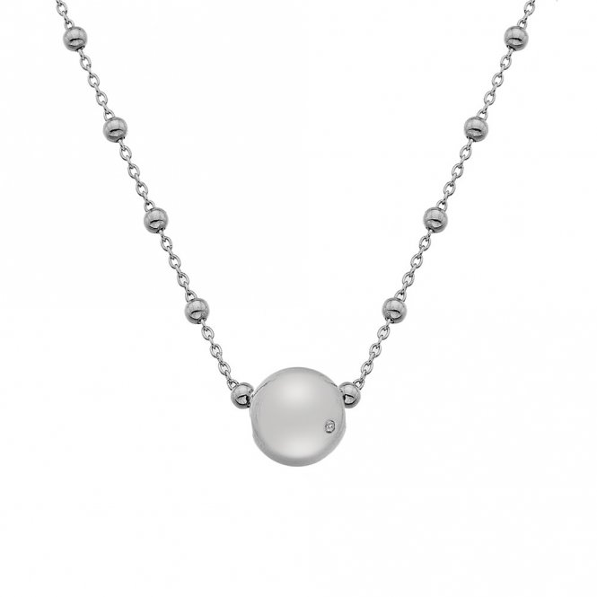 Hot Diamonds Silver Globe Necklace ~ DN113