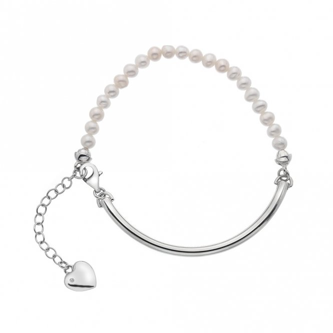 Hot Diamonds Silver & Mother of Pearl Bracelet ~ DL303