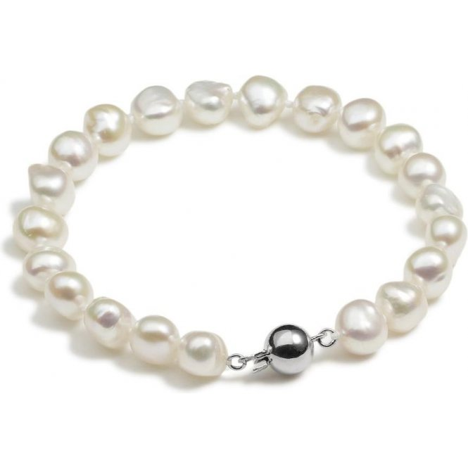 Jersey Pearl Baroque Pearl Bracelet - White ~ S15S7.5