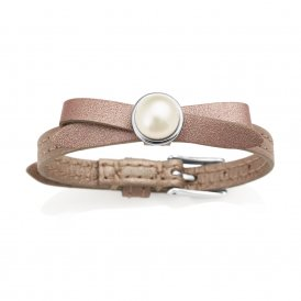Jersey Pearl D'Or Joli Leather Bracelet