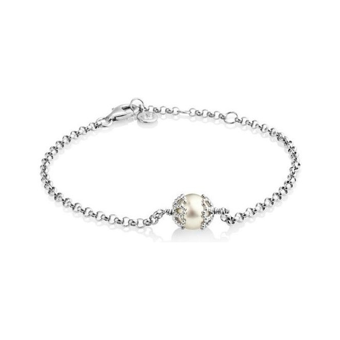 Jersey Pearl Emma Kate Rhodium Bracelet with White Pearl