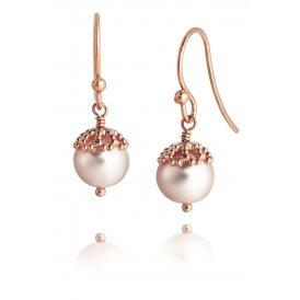 Jersey Pearl Emma-Kate Rose Gold Vermeil Drop Earrings