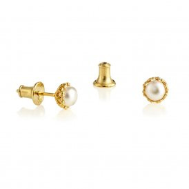Jersey Pearl Gold Emma Kate White Pearl Earrings