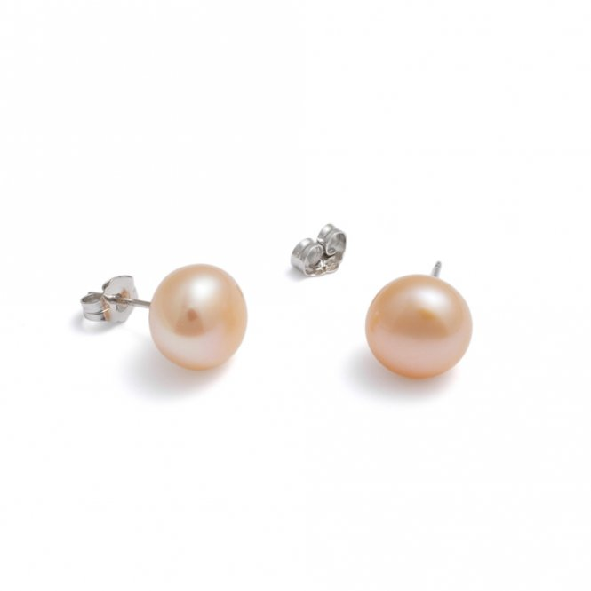 Jersey Pearl Large Peach Studs