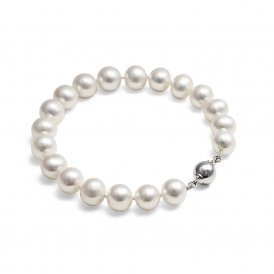 Jersey Pearl Large White Pearl Bracelet