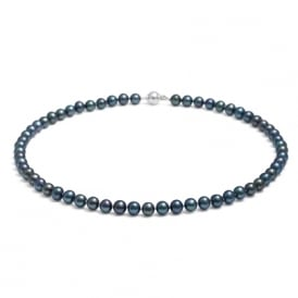 Jersey Pearl Mid-Length Peacock Pearl Necklace ~ S48S18