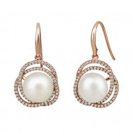 Jersey Pearl Rose Gold Marette Altair Earrings