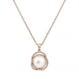 Jersey Pearl Rose Gold Marette Altair Pendant