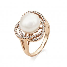 Jersey Pearl Rose Gold Marette Altair Ring M