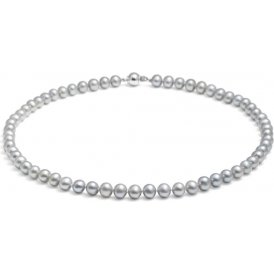 Jersey Pearl Silver Pearl Necklace