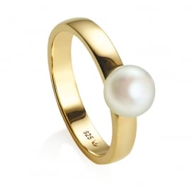 Jersey Pearl Viva Pearl Ring Yellow Gold O ~ VIVALR-YG-O