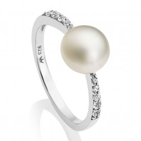 Jersey Pearl White Amberley Ring M