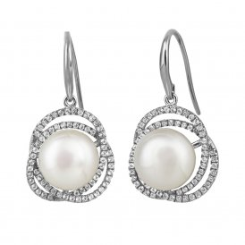 Jersey Pearl White Marette Altair Earrings