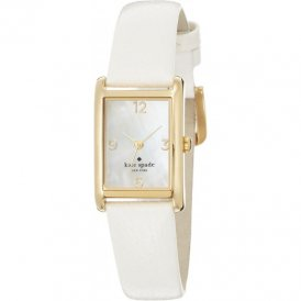 Kate Spade Ladies Cooper White Leather Strap Watch 1YRU0040