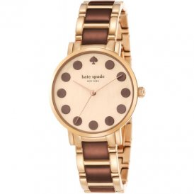 Kate Spade Ladies Gramercy Dot Gold Tone Bracelet Watch 1YRU0739