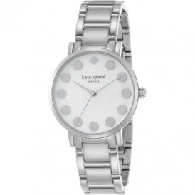 Kate Spade Ladies Gramercy Dot Silver Tone Watch 1YRU0736