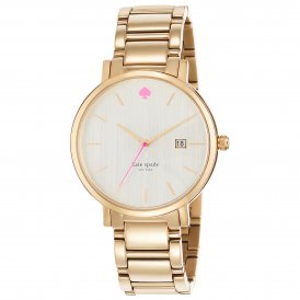 Kate Spade Ladies Gramercy Grand Steel Gold Tone Watch 1YRU0009