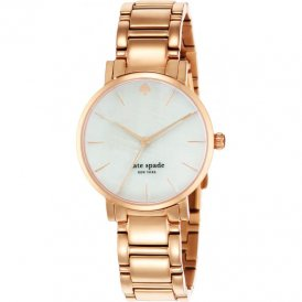 Kate Spade Ladies Gramercy Steel Rose Tone Watch 1YRU0003