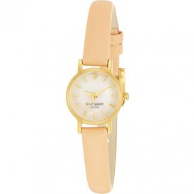 Kate Spade Ladies Tiny Metro Nude Skinny Leather Watch 1YRU0372