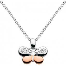 Kit Heath Kids Girls Rose Gold Butterfly Necklace ~ 9945RGD015