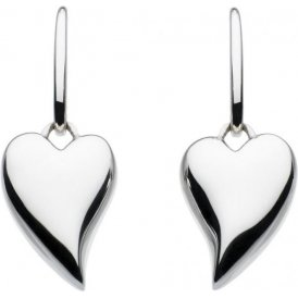 Kit Heath Silver Lust Heart Drop Earrings ~ 60FTHP017