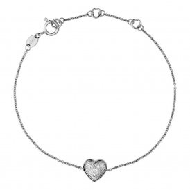 Links Of London Diamond Essentials Heart Bracelet ~ 5010.2846