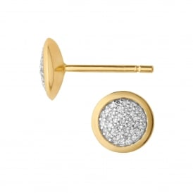 Diamond Essentials Pave Round Stud Earrings - Gold ~5040.2408