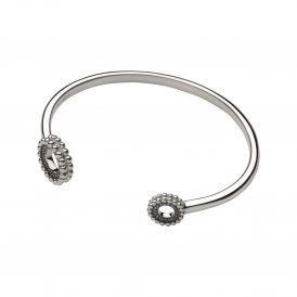 Links Of London Effervescence Silver Blue Diamond Cuff