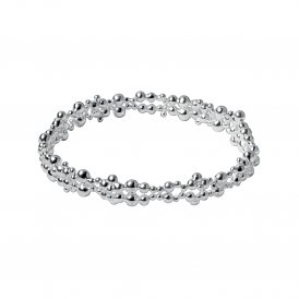 Links Of London Effervescence Silver Bubble Bangle