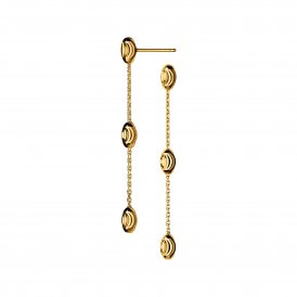 Essentials Beaded Long Earrings - Gold ~ 5040.2981