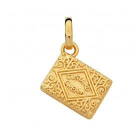 Links Of London Gold Custard Cream Biscuit Charm