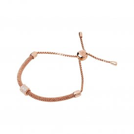 Links Of London Rose Gold & White Sapphire Starlight Bracelet