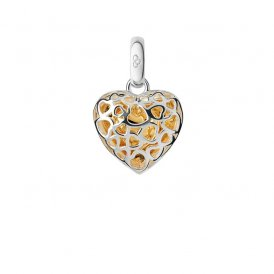 Links Of London Silver & Gold Cage Heart Charm