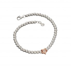Little Star Daisy Bracelet - Silver/Rose Gold/Diamond ~ LSB0118