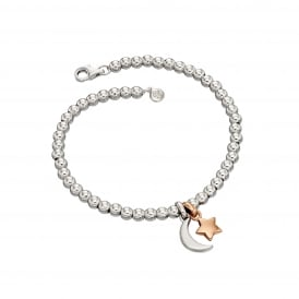 Little Star Gigi Bracelet - Silver/Rose Gold/Diamond ~ LSB0122