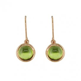 London Road Rose Gold Bubble Peridot Drop Earrings AE544 PE