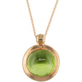 London Road Rose Gold Bubble Peridot Pendant AP232 PE