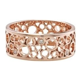 London Road Rose Gold Luxury Bubble Diamond Ring RO816D RG
