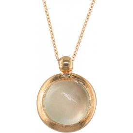 London Road Rose Gold Moonstone Bubble Pendant AP232 MO