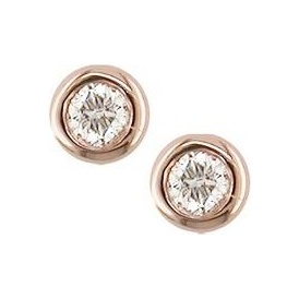 London Road Rose Gold Raindrop Stud Earrings ES901 RG