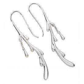 Lucy Q Silver Dripping Shepherds Crook Earrings ~ DER13