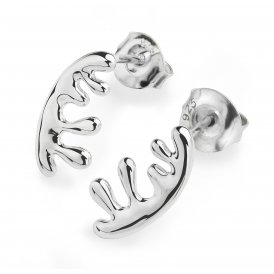 Lucy Q Silver Wave Stud Earrings ~ WS3