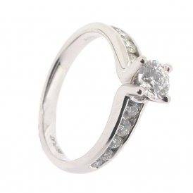 Maple Leaf 950 Platinum Fancy Solitaire Diamond Ring ~ 3242WG-18