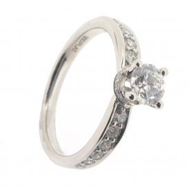 Maple Leaf 950 Platinum Fancy Solitaire Diamond Ring