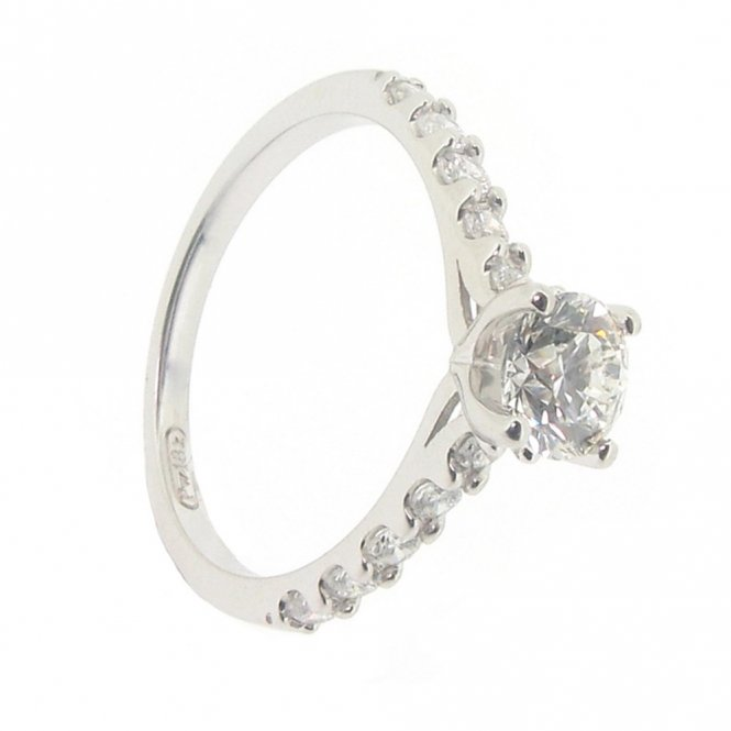 Maple Leaf Fancy Solitaire Ring ~ 3227WG/100-18