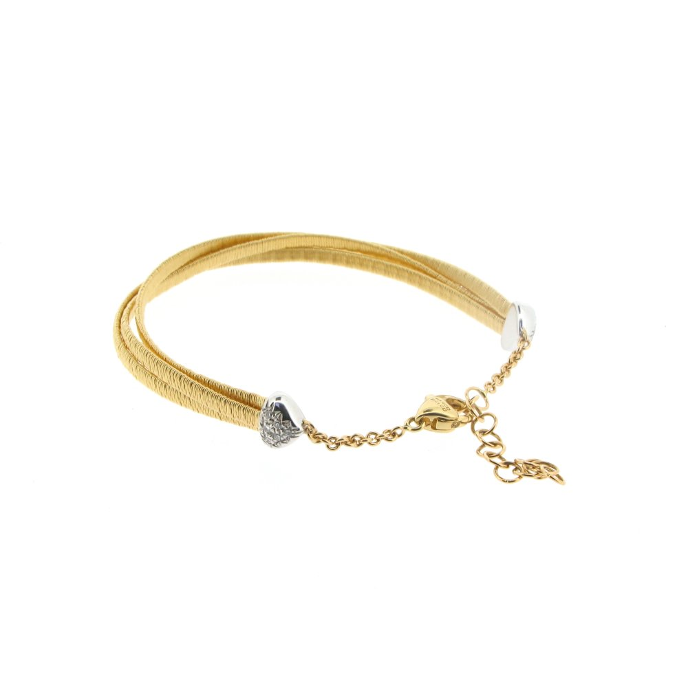 bicego five santa cairo strand jewelry bracelet products marco yellow fe gold woven