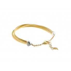 Marco Bicego Cairo Bracelet - 18ct Yellow Gold/Diamond ~ BG715-B-YW
